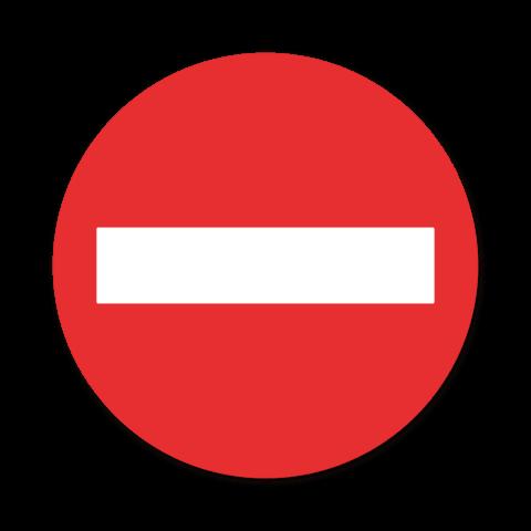 Bord - Geen doorgang