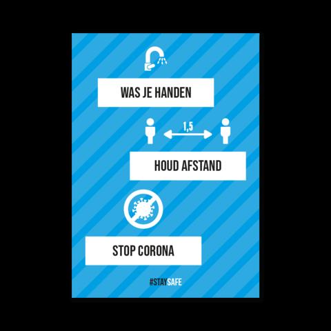 Stop Corona - meerdere kleuren mogelijk
