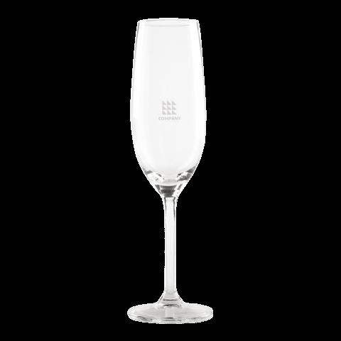 Laat je eigen champagneglas graveren met logo!